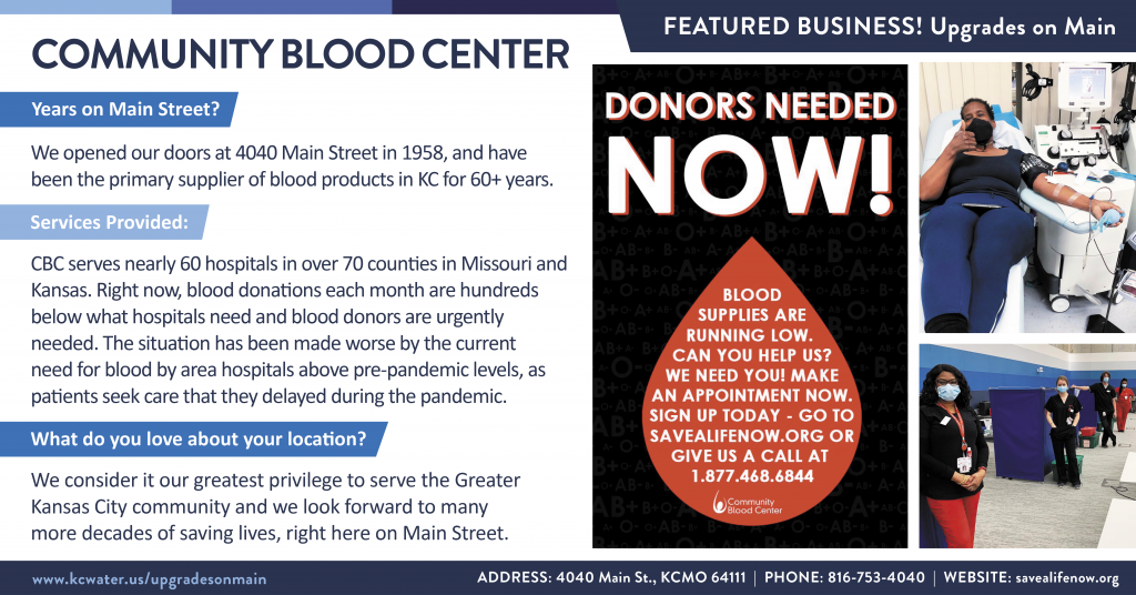Featured Business Friday - Community Blood Center